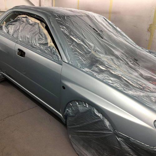 Silver Car Prepared For Respray