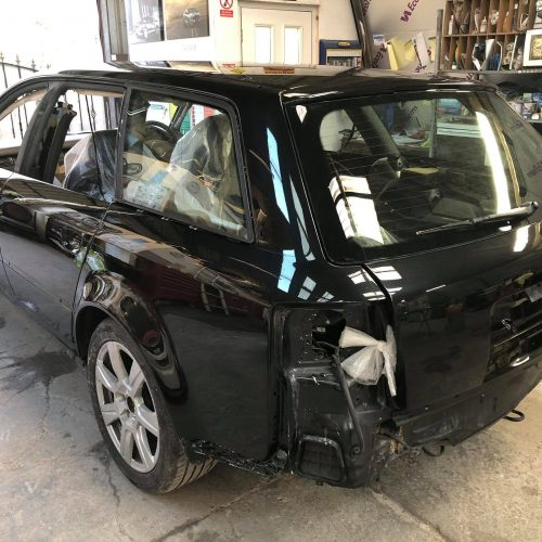 Black Car Prepared For Respray